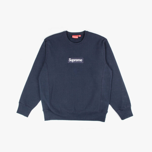 Supreme Navy Box Logo Crewneck
